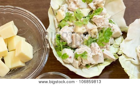 Chicken Cheese Salad