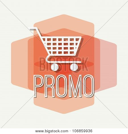 Shopping promo colorful label tag