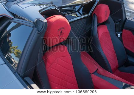Lamborghini Aventador Interior Detail On Display