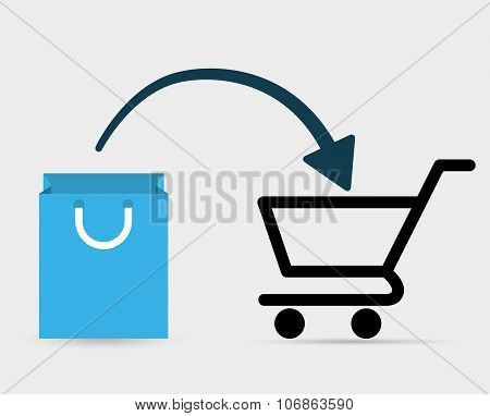 Shopping and ecommerce graphic design with icons