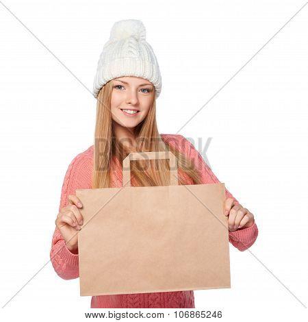 Winter shopping concept.