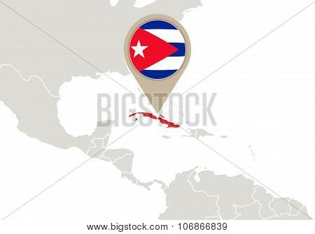 Cuba On World Map