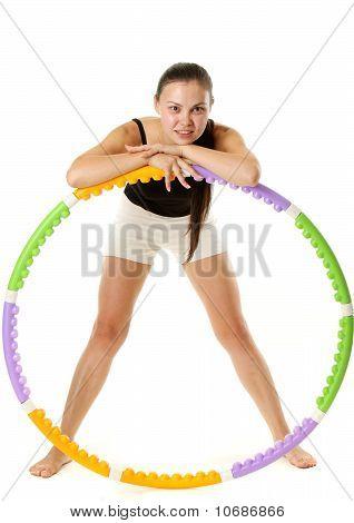Sporty Girl and Hula Hoop