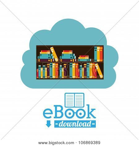 online bookstore , vector illustration
