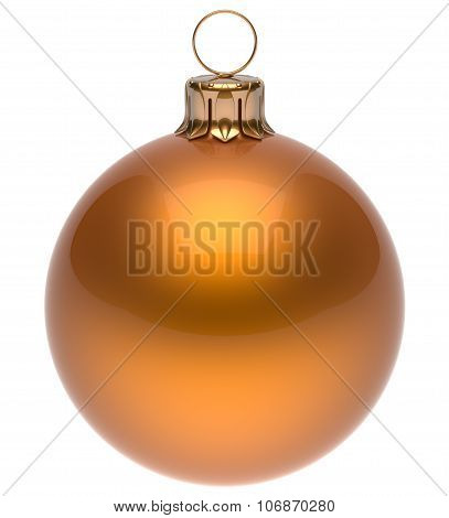 Christmas Ball Orange New Year's Eve Bauble Decoration Blank