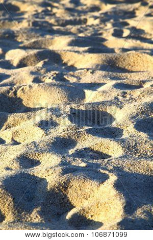 Texture   Footstep  In Kho Samui   Bay Thailand