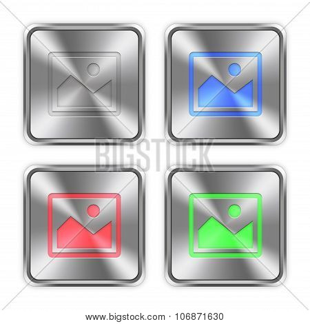 Color Image Steel Buttons