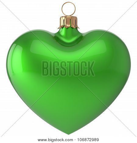 Christmas Ball Heart New Year's Eve Bauble Decoration Green