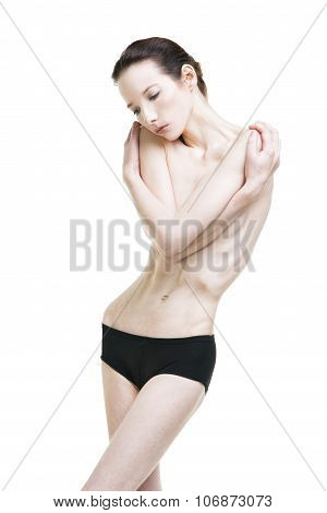 Young Woman Suffering From Anorexia