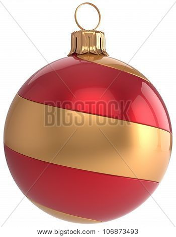 Christmas Ball Decoration New Year's Eve Bauble Striped