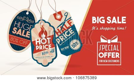 Discount Banner With Tags