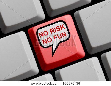 Computer Keyboard - No Risk No Fun