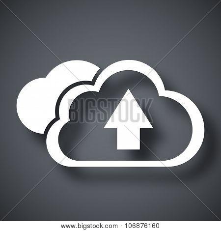 Vector Cloud Computing Upload Icon