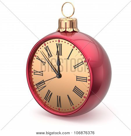 New Year's Eve Time Christmas Ball Midnight Clock Decoration
