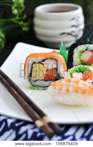 Colorful Of Sushi Layer