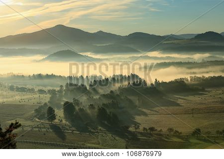 Sunrise From Krizak In Czech Saxon Switzerland