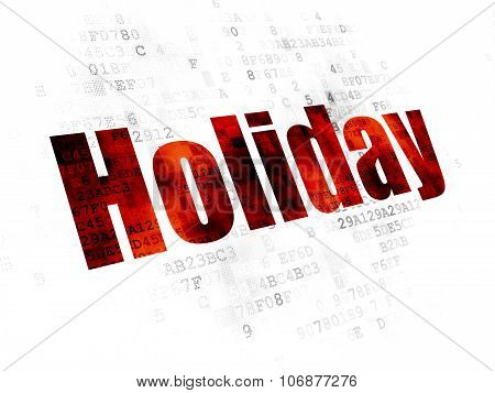 Vacation concept: Holiday on Digital background