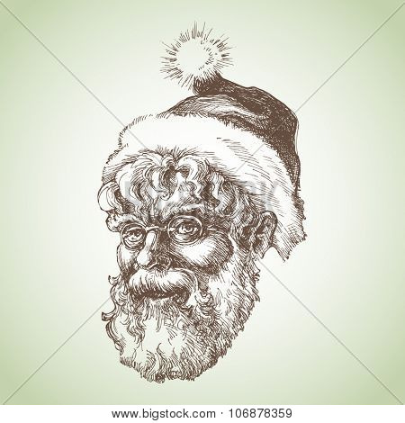 Santa Claus sketch portrait