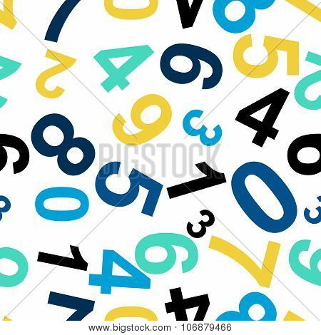 Seamless Repeating Pattern Consisting Of The Numbers.vector