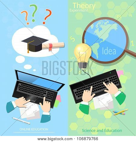 Online Education Distance Tutorials University College Student Studying Lecturer Lessons Diploma
