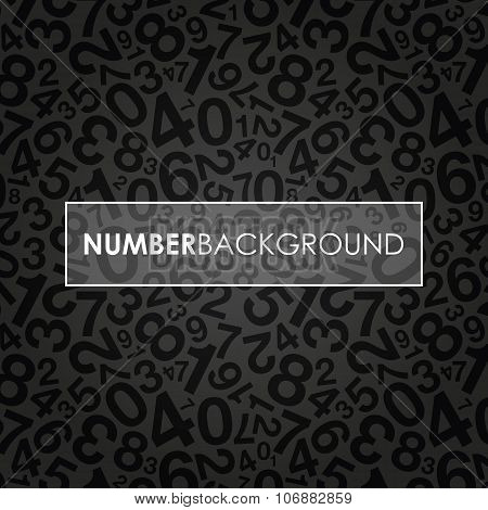 a black abstract number background