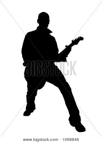 Guitarrist Silhouette
