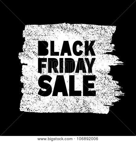 Black Friday Sale hand drawn white  grunge stain