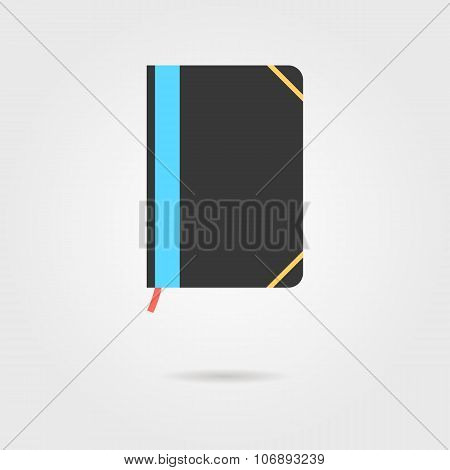 note book icon with shadow