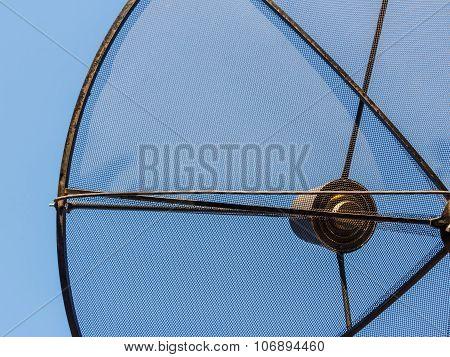 Close Up Of Satellite Digital Black Wire Mesh