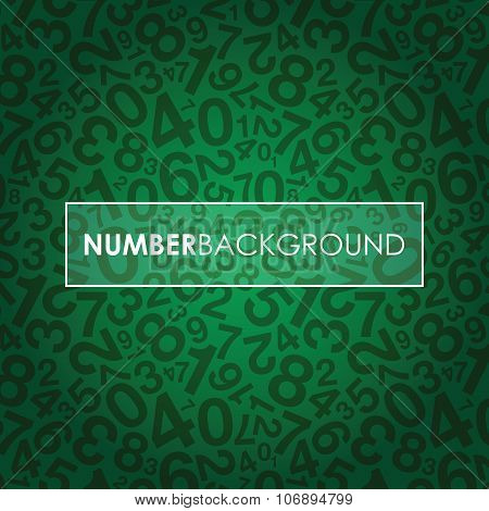 a green abstract number background