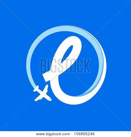 L Letter With Airline And Plane.