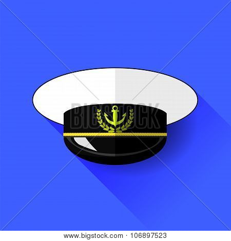 Seilor Hat Icon Isolated