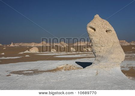 White desert in Egypt