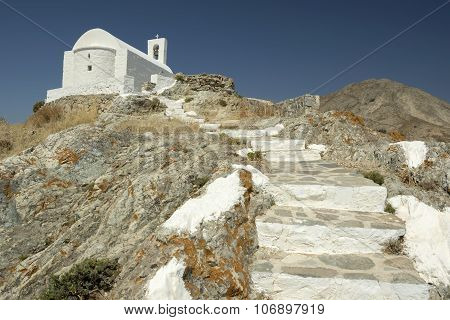 White Church In Serifos Island