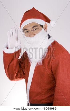 Asian Santa Claus Say Hi