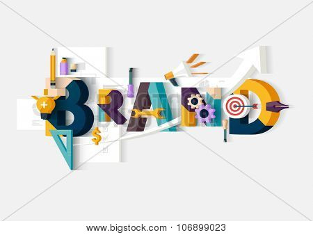 Brand word. Concept illustration.