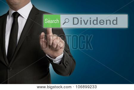 Dividend Browser Is Operated By Businessman Concept