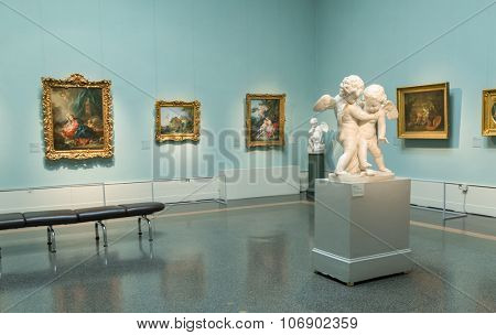 Moscow, Russia - October 29, 2015: Pushkin Museum of Fine Arts is largest museum of European art in Moscow, Russia.