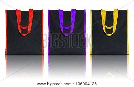Shopping Fabric Bag On White Background