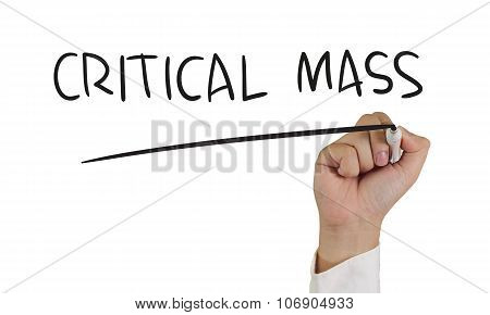 Critical Mass Typography Concept