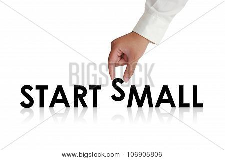 Start Small Typography Concept