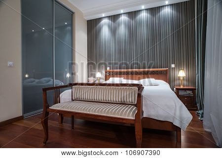 Luxury Bedroom Interior - Evening Shot