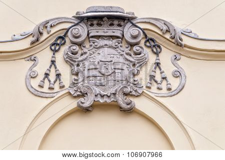 Ancient Coat Of Arms On A House Wall