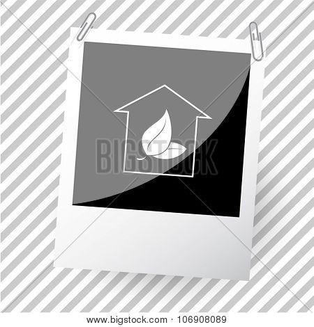 hothouse. Photoframe. Vector icon.