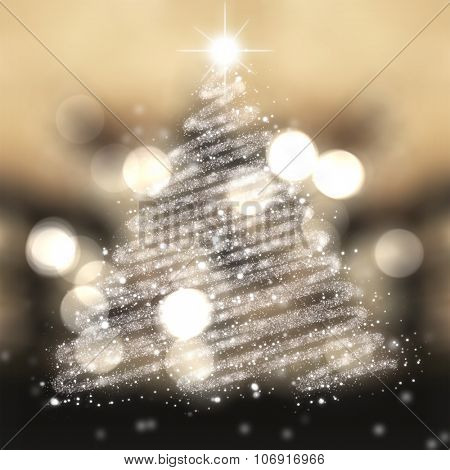 Christmas tree of stars festive background