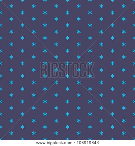 Vector seamless simple snow pattern. Winter background with snowfall