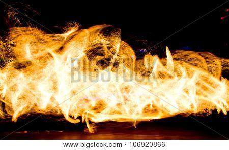 Orange Flames Human Torch