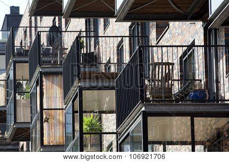 Balcony on conservatory