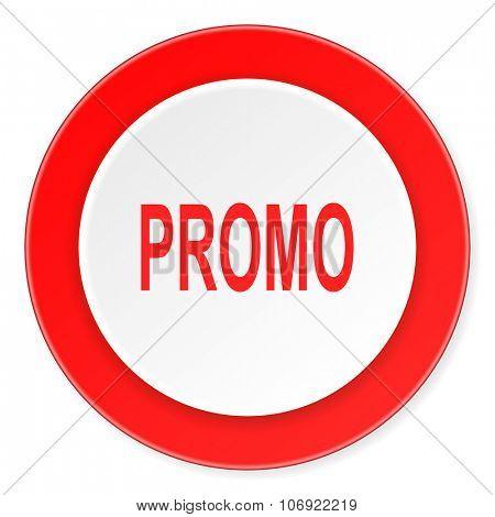 promo red circle 3d modern design flat icon on white background