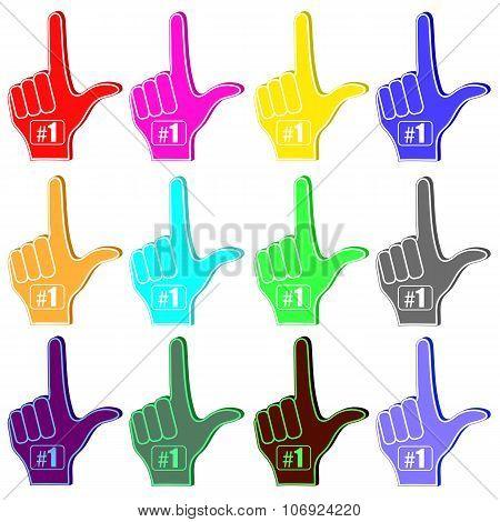 Foam Fingers Silhouettes